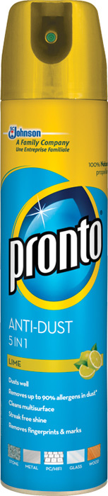 Pronto Johnson spray 250 ml - proti prachu / limetka